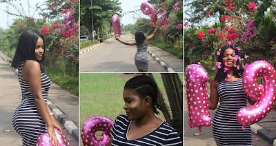 """That backside cannot be 19"" — Nigerians reacts after this lady shared photos from her 19th birthday photoshoot"