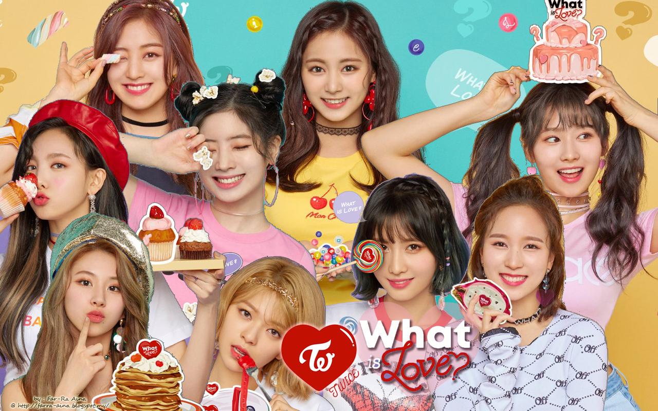 K Pop Lover Twice What Is Love Wallpaper