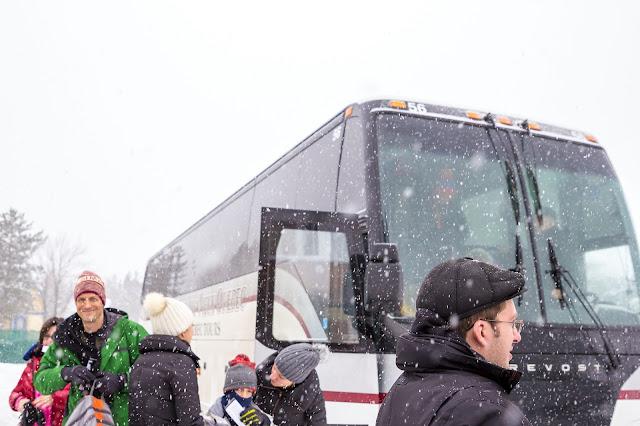 Québec City's Village Vacances Valcartier's Hôtel de Glace tour bus