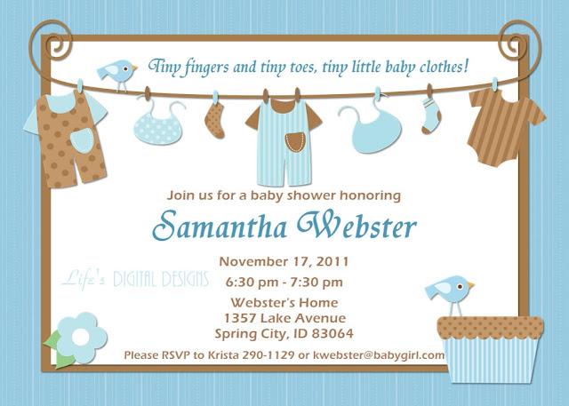 Invitation to Baby Shower