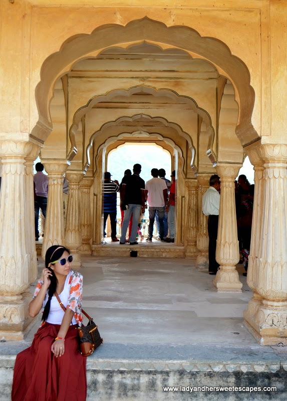 Lady in Amber Fort Jaipur