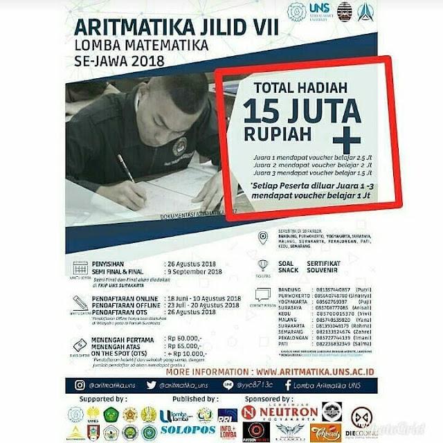 Lomba Matematika Aritmatika Jilid VII Se-Jawa 2018