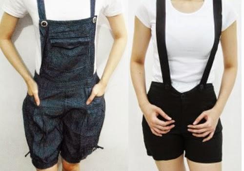 Trend Model Baju Celana Kodok Jeans Pendek Wanita