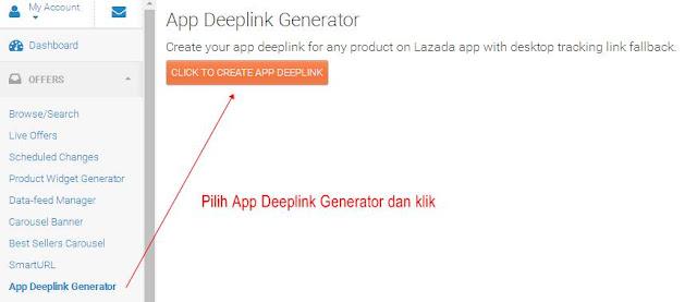 Lazada App Deeplink Generator