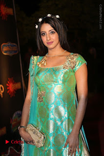 Actress Sanjjanaa Stills in Green Long Dress at Gemini TV Puraskaralu 2016 Event  0030.JPG