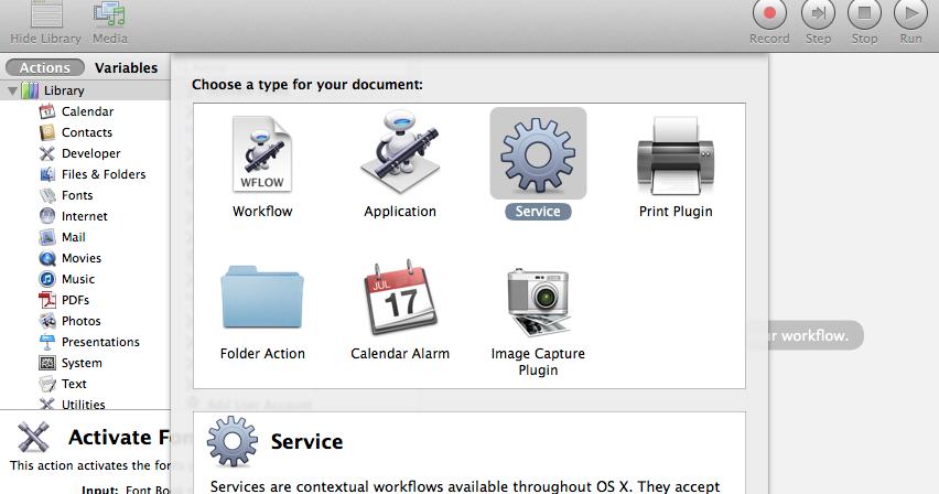 osx automator zip files