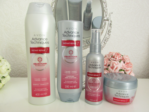 AVON Advance Techniques Instant Repair 7 Serie mit Keratin Power Technology
