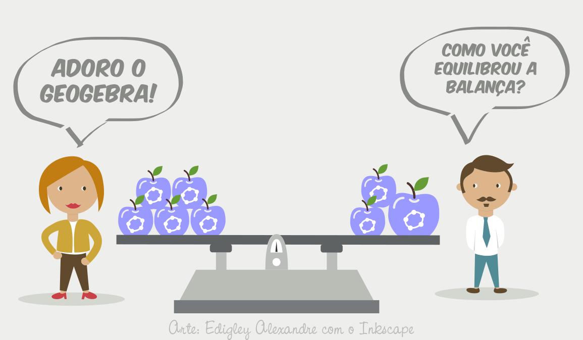 Balança de equações utilizando o GeoGebra. Indispensável para suas aulas!