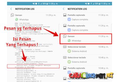 Cara membaca pesan terhapus di Whatsapp pada Android