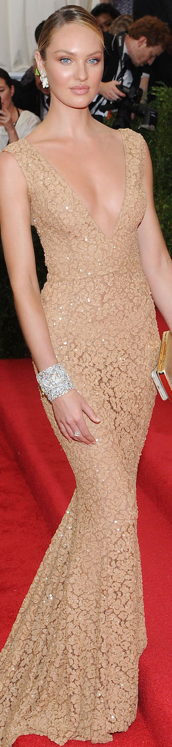 Candice Swanepoel in Michael Kors 2015 MET Gala