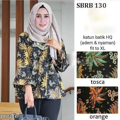 Contoh Baju Batik Kerja Wanita Baju Batik Kantor Rok Batik Pattern motif Daun
