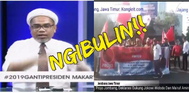 Ngabalin Ngibulin Bilang Tidak Ada Deklarasi Pendukung Jokowi Out Door, Ini BUKTI Videonya!