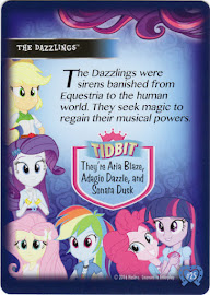 My Little Pony The Dazzlings Equestrian Friends Trading Card