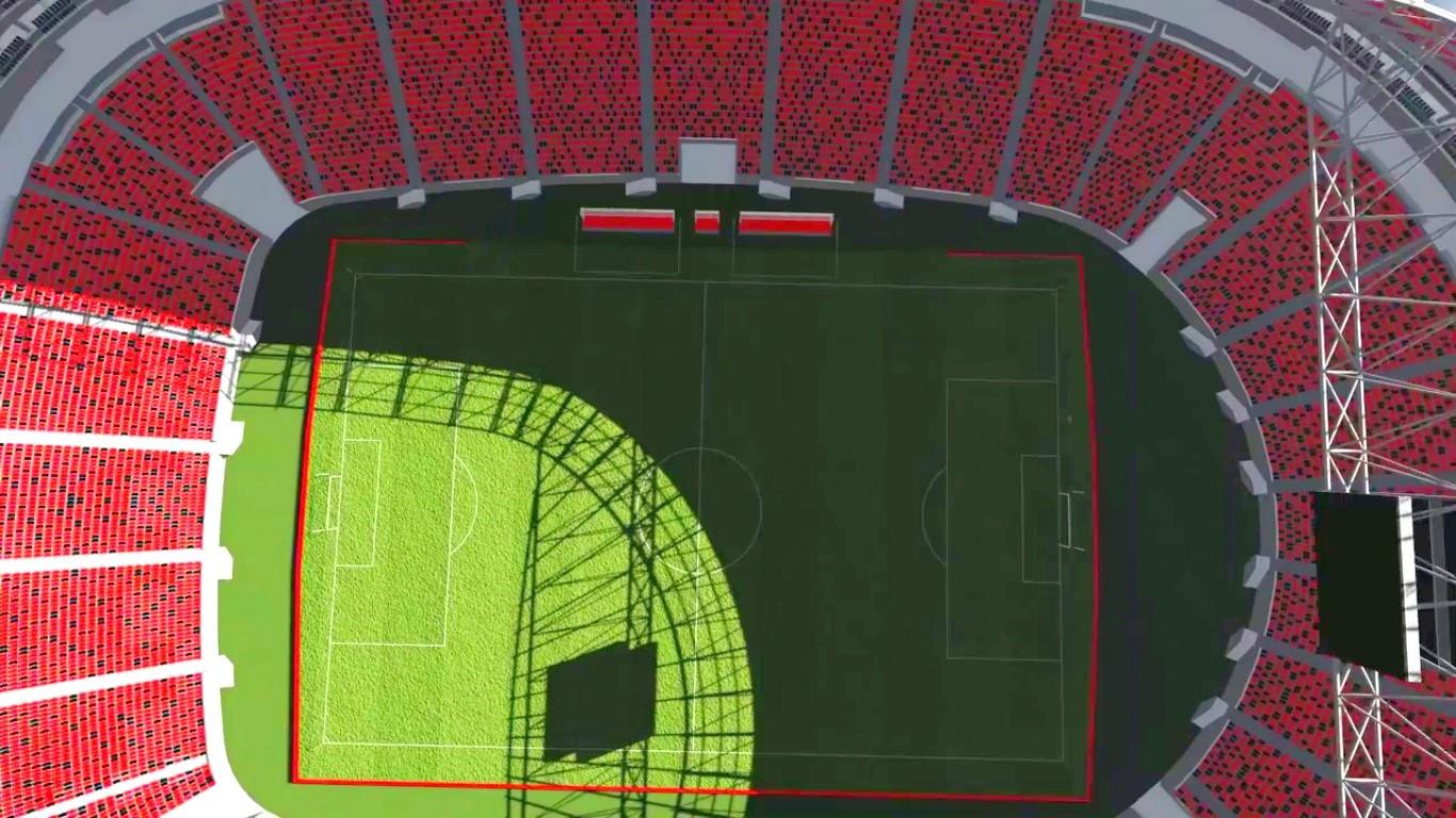 cfb52d2076 Vista aérea do Estádio do Flamengo em Guaratiba – Foto  Reprodução