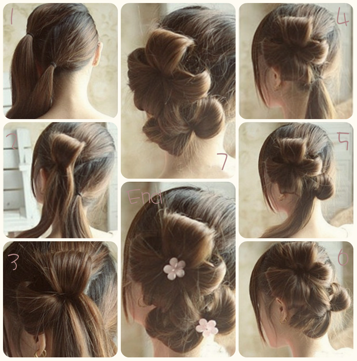 Flower Bun Hair Style Tutorial Step By Step B G Fashion