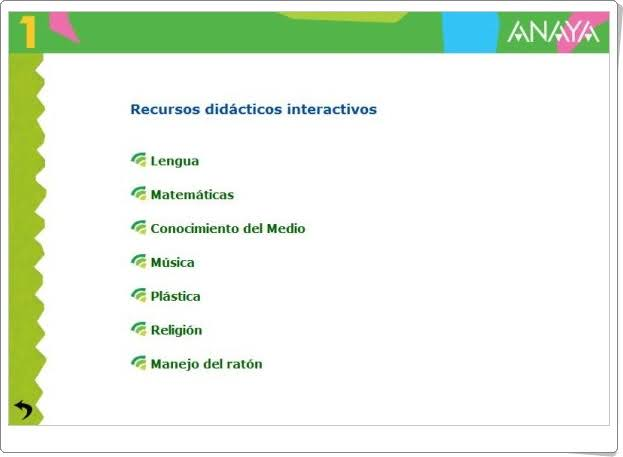 """""""Recursos Didácticos Interactivos Anaya de 1º de Primaria"""""""