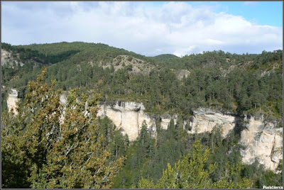 Farallones rocosos en la margen derecha del Río Escabas (El Hosquillo)