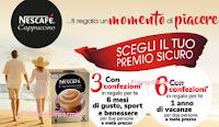 Logo Nescafé Cappuccino 2017: premi sicuri Card 2x1 per benessere, ristoranti e vacanze