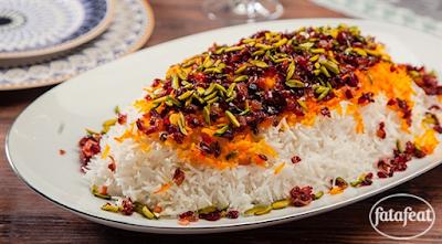 أرز بحشو الفستق والزرشك