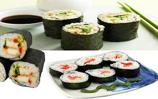 عمل السوشي بالأرز