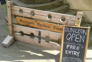 Stockport Heritage Trust's Dungeon Tours at the old Court Leet at Mealhouse Brow