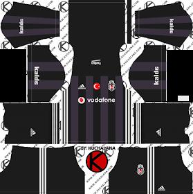 Besiktaş JK Kits 2017/2018 - Dream League Soccer