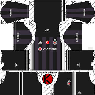 Besiktaş JK Kits 2017/2018 - Dream League Soccer