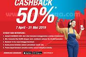 Promo Indomaret Pake LinkAja Cashback 50% Edisi 7 April - 31 Mei 2019