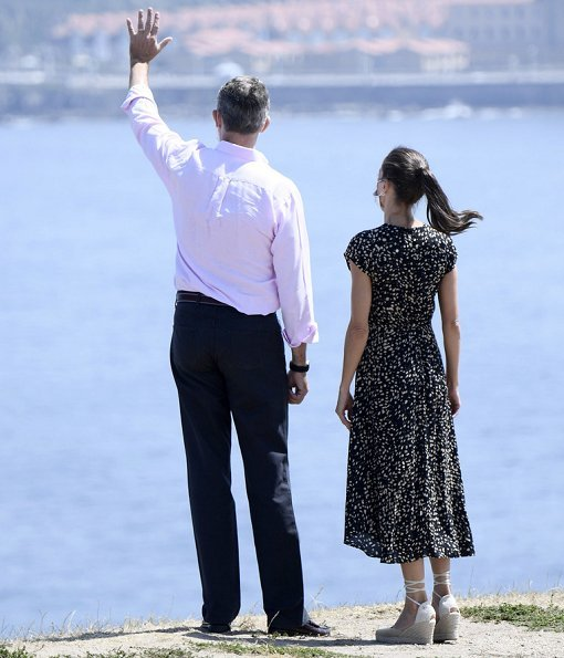 King Felipe and Queen Letizia of Spain visited Cerro de Santa Catalina in Gijon