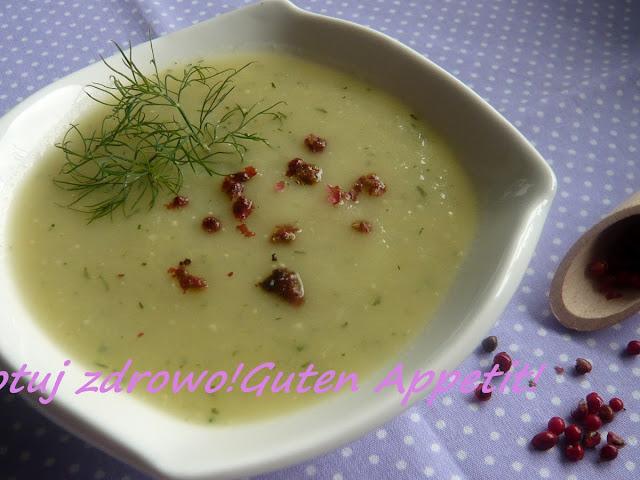 Zupa krem z kalarepy z koperkiem i czerwonym pieprzem - wegeterianska - Czytaj więcej »