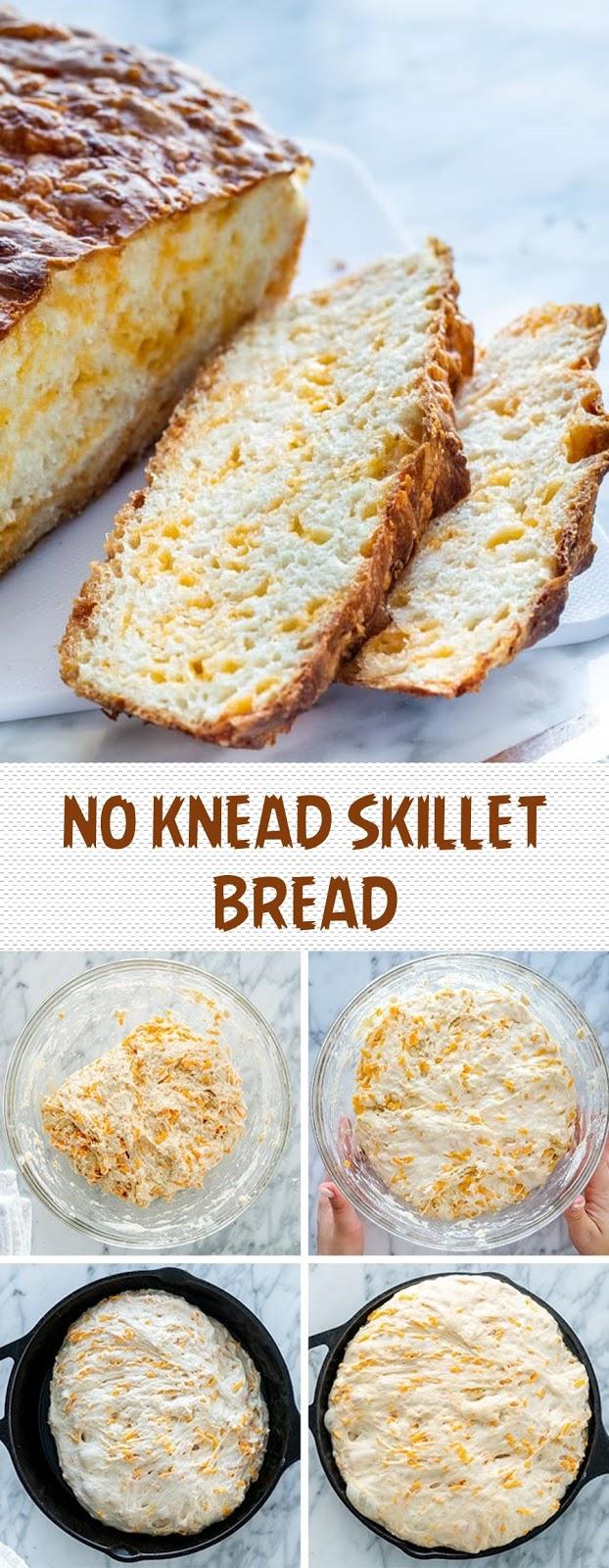 NO KNEAD SKILLET BREAD