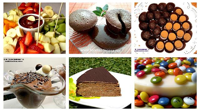 6 postres fáciles con chocolate
