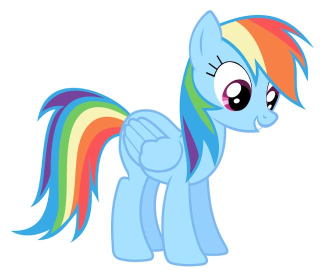 Gambar Mewarnai Rainbow Dash