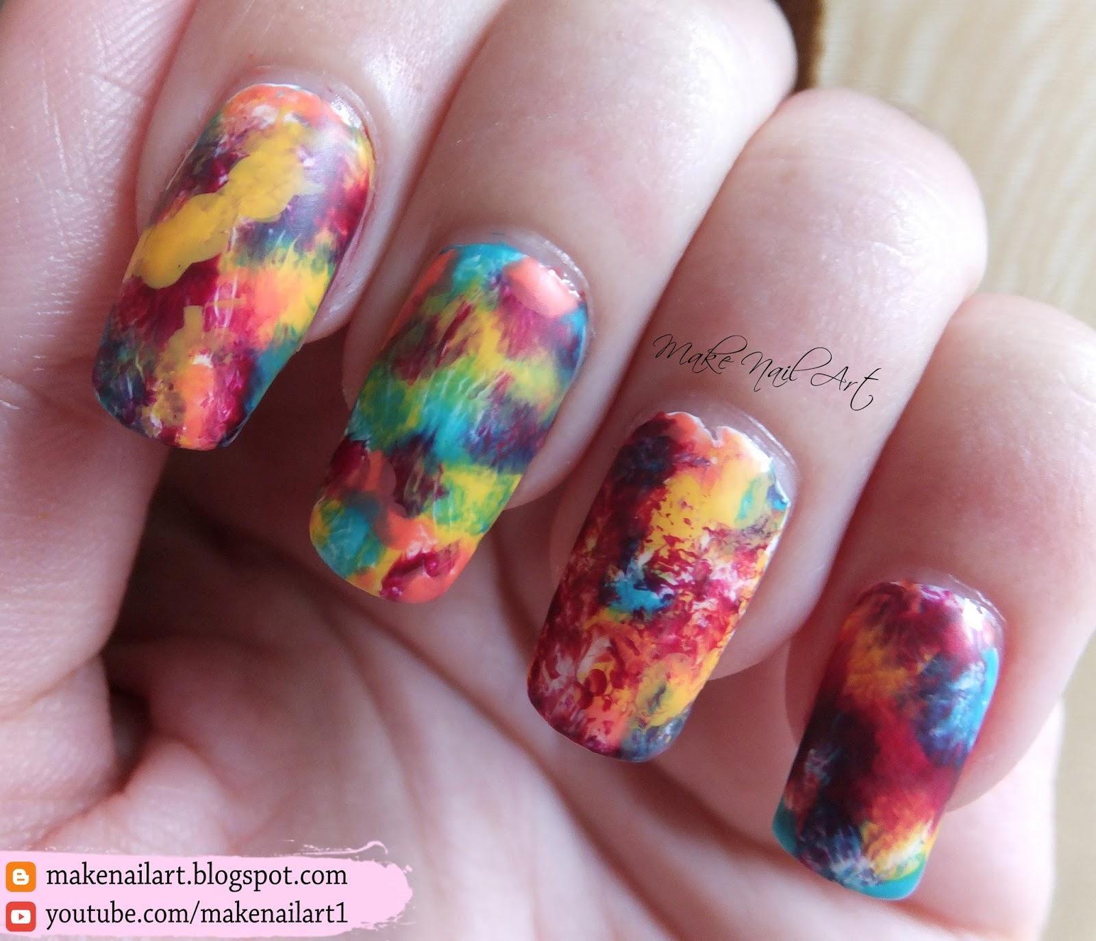 Make Nail Art: Easy Autumn Nail Art Design Tutorial