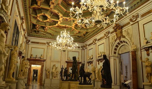Palácio Novo no Museus Capitolinos em Roma