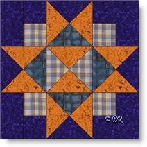 'Four Corners' quilt block © W. Russell, patchworksquare.com