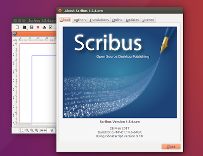 Install Scribus 1.5.3 in Ubuntu and Linux Mint Derivatives