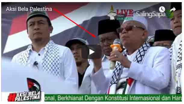 VIDEO: Astagfirullah,, Aksi Bela Palestina Sempat 'Dirusak' Ketua PBNU Marsudi Syuhud
