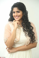 Megha Akash in beautiful Cream Transparent Anarkali Dress at Pre release function of Movie LIE ~ Celebrities Galleries 037.JPG