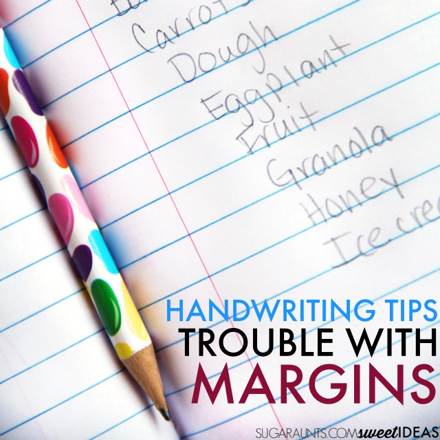 Easy tips and accommodations for poor spatial awareness in handwriting.