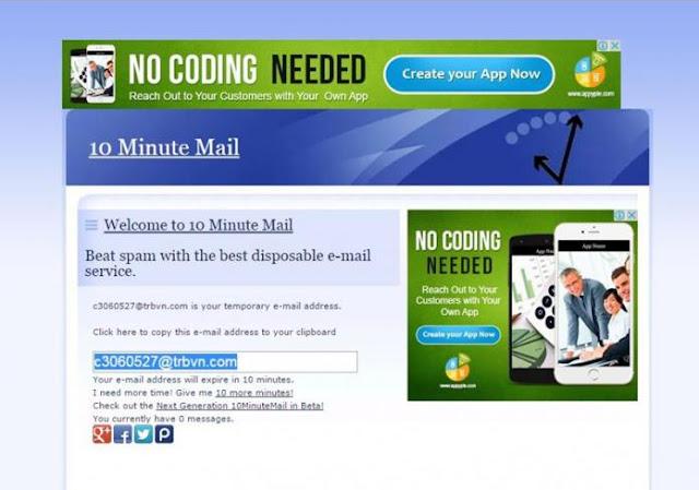 10 Aplikasi Membuat Email Palsu/Sementara Dengan Hitungan Detik