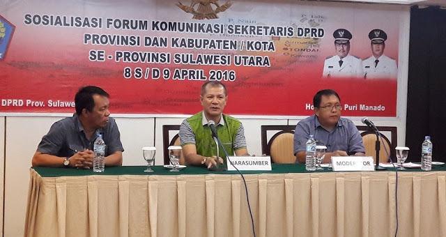 Sekretariat DPRD Sulut Gelar FKS Kabupaten/Kota Se-Provinsi Sulut
