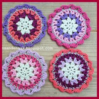 Mini mandalas crochet