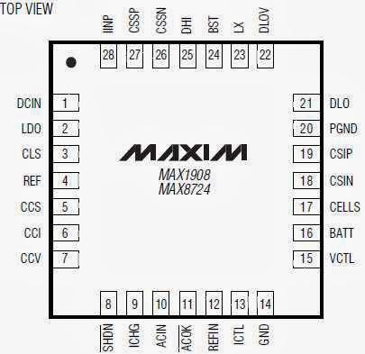 pines o patas del circuito integrado Max8724