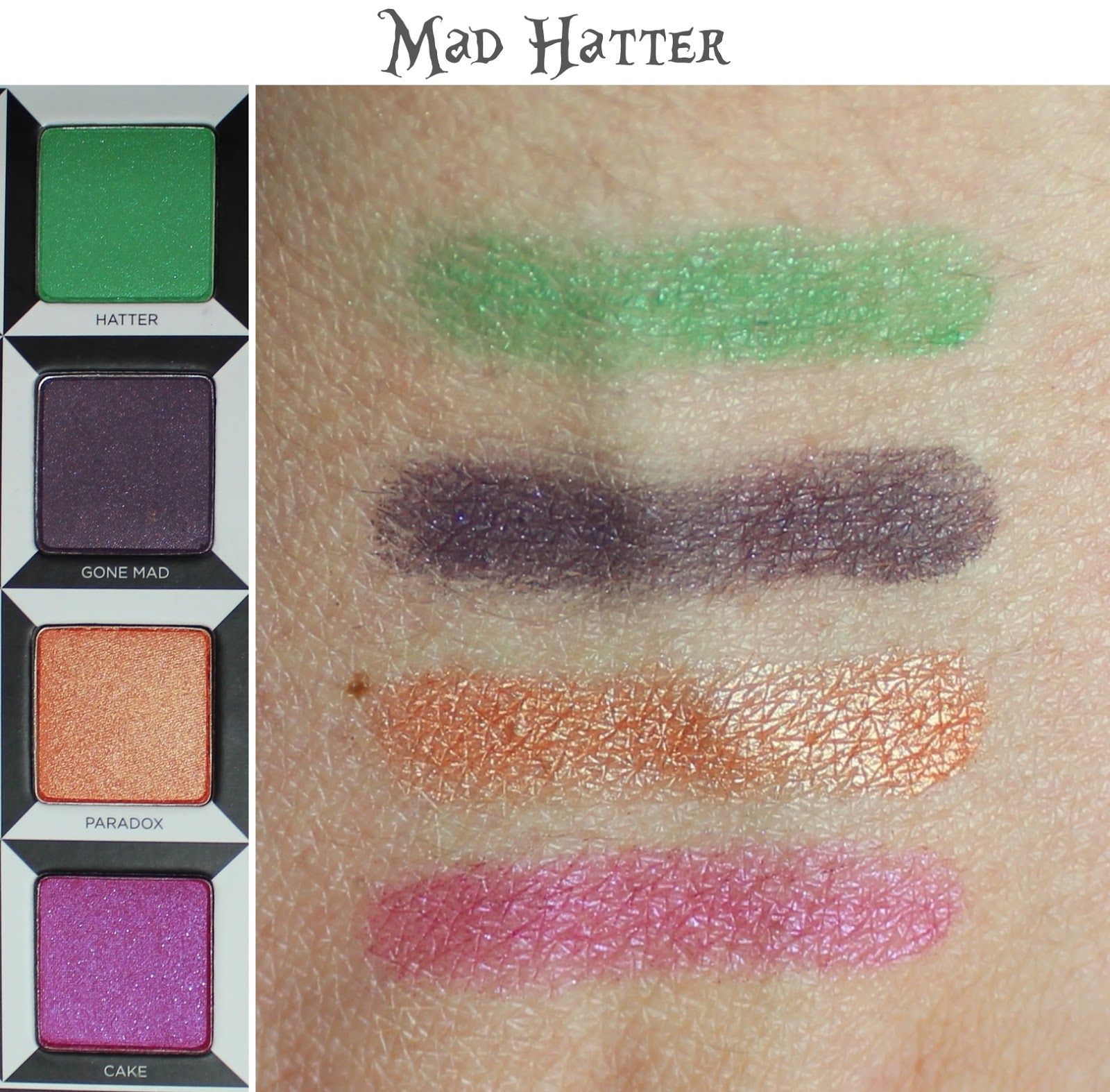Urban Decay Alice Through the Looking Glass Palette mad hatter