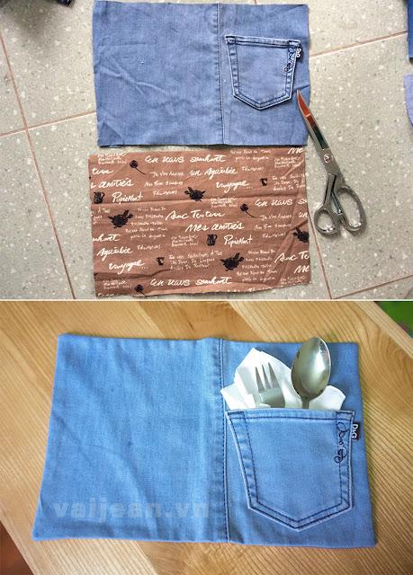 Mẹo làm 9 món đồ bếp từ quần jean cũ cực hữu dụng