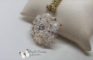 Tutorial del ciondolo con perle da 6mm