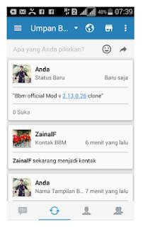 BBM OFFICIAL MOD V2.13.0.26 APK CLONE TERBARU GRATIS