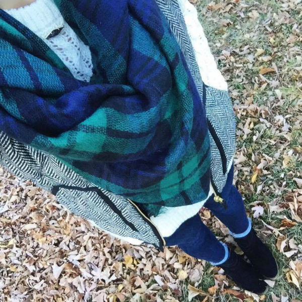 herringbone vest, how to wear a blanket scarf