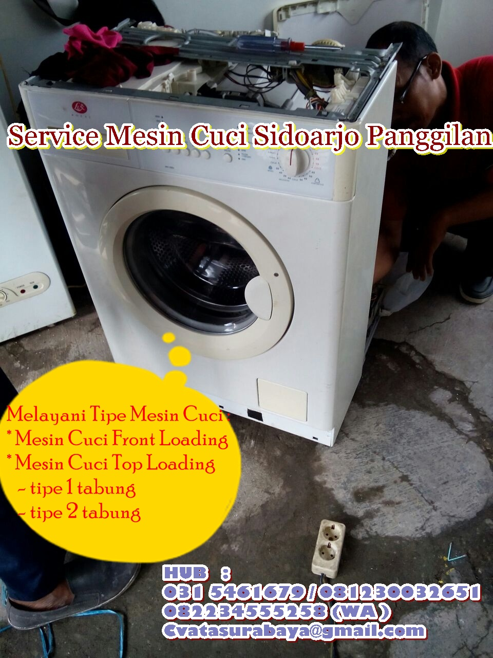 Service Mesin Cuci Berpengalaman Sidoarjo